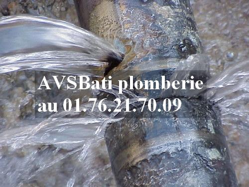 AVSBati plomberie Sein-et-Marne 77, Fuite d'eau, les bons reflex pour sauver les meubles!